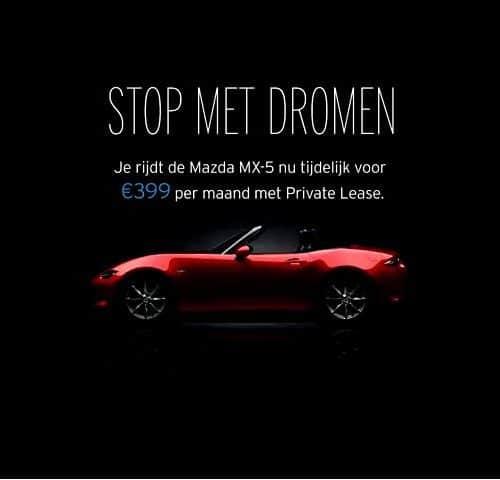 MAZDA - Stop met dromen