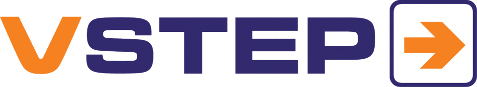 v step logo